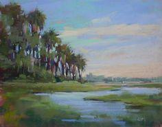 Arte original de Pastel pintura FLORIDA por KarenMargulisFineArt
