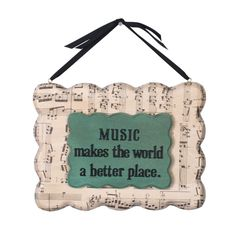Music Quote Modern Plaque- Uses Walnut Hollow Modern Plaques