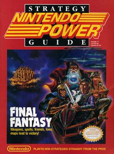 View an image titled 'Nintendo Power Cover Art' in our Final Fantasy art gallery featuring official character designs, concept art, and promo pictures. Final Fantasy Nintendo, Final Fantasy Weapons, Final Fantasy Art, Classic Video Games, Retro Video Games, Retro Games, Video Game Magazines, Nintendo Switch, Character Art