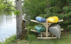 Sea Kayak Rack!  #4place  A custom wood rack made for storing kayaks, canoes, and sups. Kayak Storage Rack, Kayak Rack, Boat Storage, Wood Rack, Custom Wood, Kayaking, Photo Galleries, Quad, Sea Kayak