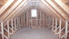 garage stairway to attic | On this St Paul Garage we used a 10/12 room in attic truss with LP ...