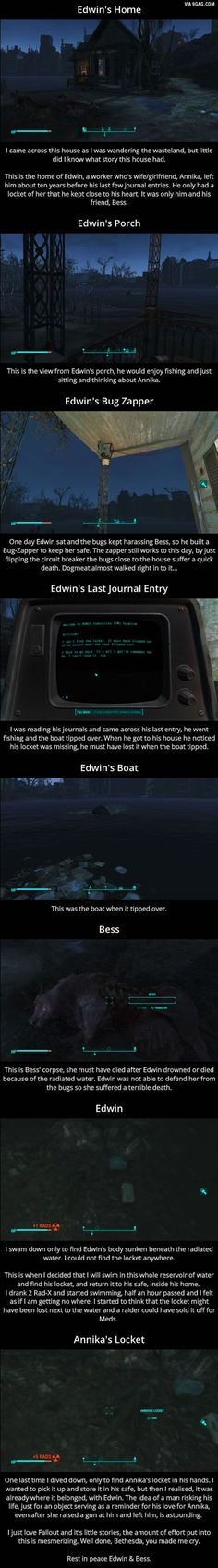 [Fallout One of the saddest stories. I remember this place! So sad :( Fallout 4 Weapons, Fallout Four, Fallout 4 Funny, Fallout Facts, Fallout 4 Mods, Fallout Cosplay, Fallout Game, Fallout 4 Secrets, Skyrim Game