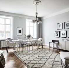 I'm seriously loving all the soft grey tones coming from the Swedish apartments lately … and they all seem to have beautiful herringbone floors | photos by Anders Bergstedt for Entrance ~ xx debra B
