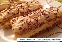 Karácsonyi diós sütemény vaníliás krémmel My Recipes, Cake Recipes, Cooking Recipes, Favorite Recipes, Hungarian Desserts, Hungarian Recipes, Hungarian Food, Poppy Cake, Cheesecake