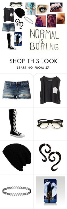 """""""Untitled #245"""" by faithjackson16 ❤ liked on Polyvore featuring Replay, Blondes Make Better T-Shirts, Converse, Wildfox, Topshop and Once Upon a Time"""