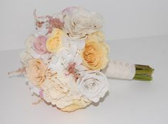 Preserved Wedding Bouquet - Peonies, Roses, Ranunculus, Garden Roses, Astilbe and Hydrangeas