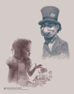 Mad Hatter n Alice by `imaginism on deviantART