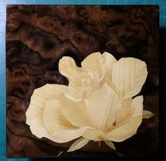 Marquetry Yellow rose
