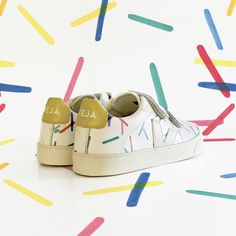 Carensac Velcro Trainers - Veja x Hundred Pieces - Exclusive collaboration - Organic fashion for kids - Best Baby Shoes, Kid Styles, Adidas Stan Smith, Girls Shoes, Crocs, Collaboration, Trainers, Adidas Sneakers, Kids Fashion