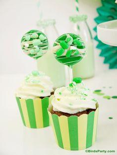 Mint Flavored Cupcakes & Lollipops using Tic Tac® Spearmint Mix Mints