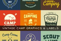 Check out Vintage Camp Graphics by Ember Studio on Creative Market