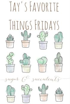 Tay's Favorite Things Fridays (TFTF) - sugar & succulents