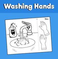Wash Your Face Craft – 10 Minutes of Quality Time Body Preschool, Preschool Learning Activities, Global Handwashing Day, Diy Birthday Gifts For Dad, Bee Crafts For Kids, Preschool Classroom Decor, Do A Dot, School Labels, Sick Kids