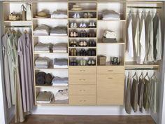Choosing The Best of Cheap Closet Organizers Diy Walk In Closet, Diy Closet Doors, Cheap Closet, Wooden Closet, Simple Closet, White Closet, Simple Wardrobe, Wood Closet Organizers, Kitchen Storage