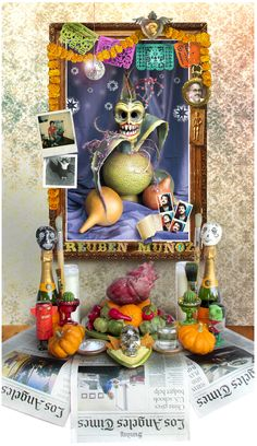 My first Day of the Dead altar ... and it's for me!