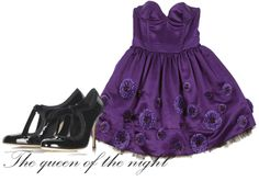 blog: Sophie's fashion october 2007.  Nattens drottning - Queen of the night
