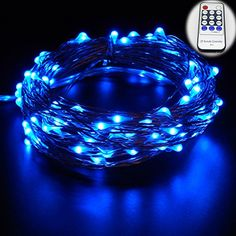 ER CHEN Led String Lights 500 Leds on Copper Wire 165ft LED Starry Light with 12V Power Adapter  Remote Control For Christmas Wedding and PartyBlue * Be sure to check out this awesome product. (This is an affiliate link)