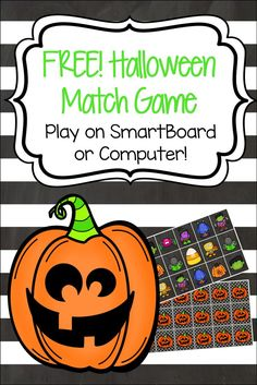 This interactive match game is the perfect way to add some Halloween fun to your classroom. Great for utilizing technology, your kids will have a blast matching the fun Halloween images. This product can be used individually, in small groups or with the whole class. To play, just start the slideshow from beginning. Students click on two squares. If they get a match, great! If not, they can click the square again to turn it back over.