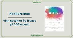 Konkurranse! Vinn gavekort fra iTunes på 250 kroner! Itunes, Chart