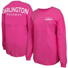 Darlington Raceway Fanatics Branded Women's Spirit Jersey Long Sleeve T-Shirt - Pink