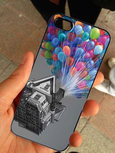 Disney Pixar Up Balloons - Rubber and Plastic Print Case - iPhone 4 4s, 5, 5s, 5c, Samsung S2, S3, S4