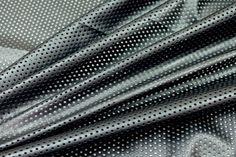 Perforated Leatherette Airtex - Black