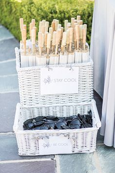 Sherry + Andrew's Glam Grey Beverly Hills Wedding Sunglasses and parasols for ceremony guests- Sherr Beach Wedding Decorations, Beach Wedding Favors, Unique Wedding Favors, Destination Wedding, Wedding Planning, Summer Beach Weddings, Handmade Wedding, Party Wedding, Beach Wedding Ideas On A Budget