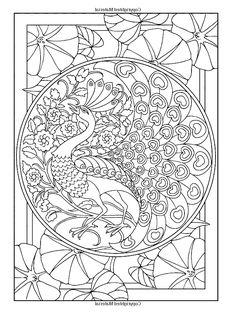 galerie de coloriages gratuits coloriage style art nouveau paon image coloriage