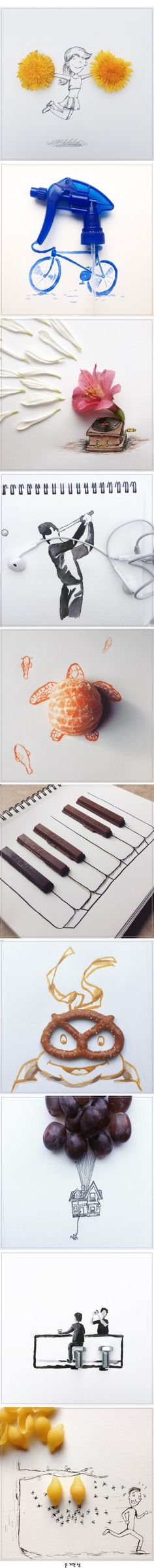 Funny Illustrations Created Around Everyday Objects by 17-year-old Artist Kristian Mensa