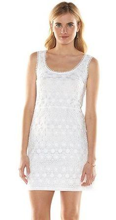 LC Lauren Conrad Crochet Shift Dress - Women's