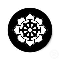 Lotus Flower Dharma Wheel