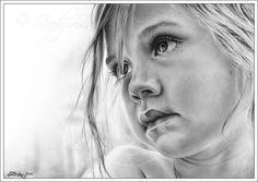 charcoal drawings | Zindy-Zone.dk - New Drawings - Innocent Eyes