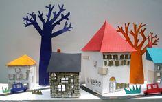 Paper #house #city lauren #rolwing  illustrator - nashville, tn