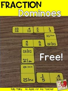 These free equivalent fraction dominoes are a great way to help your students master equivalent fractions!  Could be used in small groups, math centers, at home, and more!