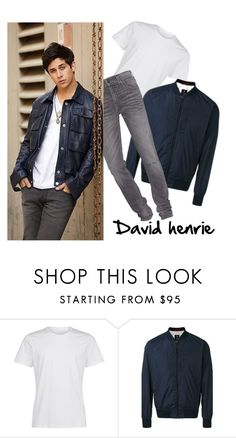 """""""David henrie"""" by feynafaisal-1 ❤ liked on Polyvore featuring FAY, True Religion, men's fashion and menswear"""