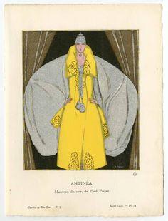 Women 1915-1920, Plate 031. Fashion plates, 1790-1929. The Costume Institute Fashion Plates. The Metropolitan Museum of Art, New York. Gift of Woodman Thompson (b17509853) | An evening coat, 1920. #fashion