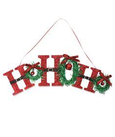 Retro Ho Ho Ho Sign from TheHolidayBarn.com