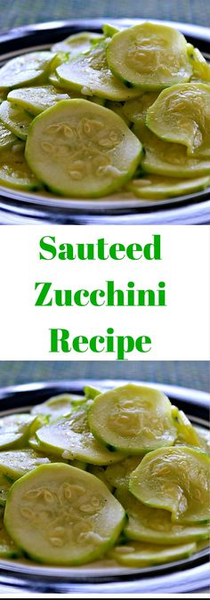 This sauteed zucchini recipe makes a light, tasty side dish