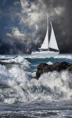 Sailing Yacht Charter - Search for Yachts and Catamarans No Wave, Ocean Beach, Ocean Waves, Sea Storm, Perfect World, Belle Photo, Sailing Ships, Cool Photos, Scenery