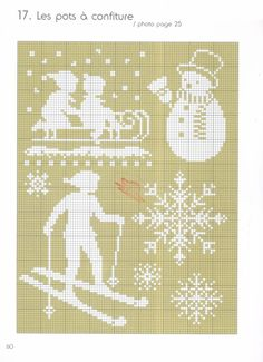 Christmas silhouettes - part 1 of 2 Xmas Cross Stitch, Just Cross Stitch, Cross Stitch Heart, Quilt Stitching, Cross Stitching, Cross Stitch Embroidery, Cross Stitch Patterns, Fair Isle Chart, Snow Theme