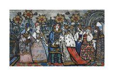 Sergei Vasilyevich Malyutin - Illustration for the Fairy Tale of the Tsar Saltan by A. Pushkin - Giclee Baskı - AllPosters.com.tr'de.