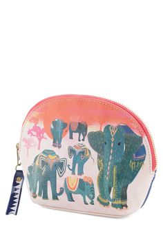 Pachyderm It In Makeup Bag. Remembering your essentials is made easier when theyre toted in this vegan faux-leather makeup bag from Disaster Designs! #multi #modcloth