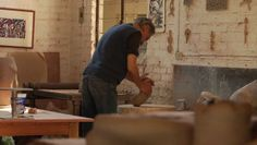 My first video pin! The great Mexican ceramic artist Gustavo Pérez working in his studio.