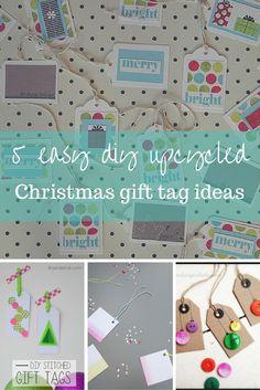 5 upcycled Christmas gift tag ideas (p)