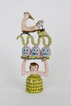 Wow - what an interesting ceramic sculpture by Joakim Ojanen! Clay Art Projects, Ceramic Sculpture, Sculpture Art, Illustration, Clay Art, Ceramics, Art, Art Toy, Ceramics Pottery Art