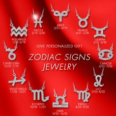 Cubic Zodiac Signs Jewelry.  What's you sign? http://www.berricle.com/jewelry-collections/zodiac-signs-necklace-pendant-jewelry.htm