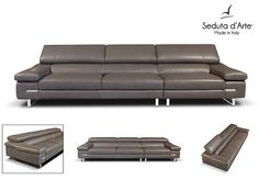 Premium Leather Sofa Astor by Seduta D'Arte - $2,099.00