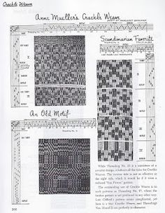 WEAVING LIBRARY : DOBBY FABRIC / FIGURED FABRIC / JACQUARD AND DRAWLOOM STUDY: Crackle Weave Chapter 21
