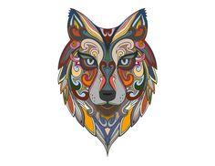 Loup Mandala   Mandala Lobo by Tâmara Marra