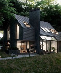 Beau House In The Woods, Beautiful Homes, Nice Houses